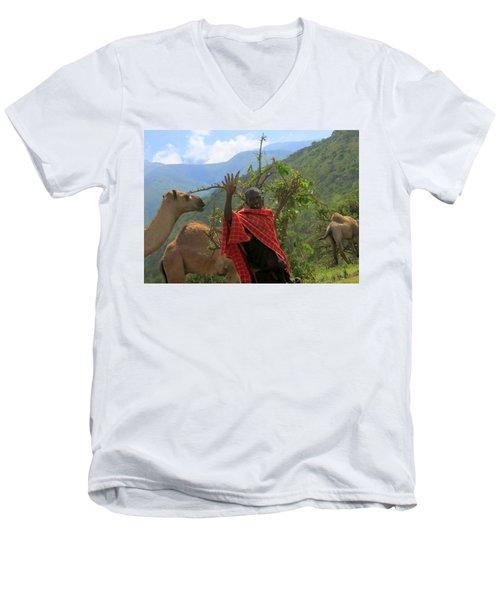 Ngorongoro Herder Men's V-Neck T-Shirt