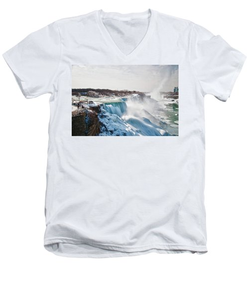Men's V-Neck T-Shirt featuring the photograph Niagara Falls 4589 by Guy Whiteley