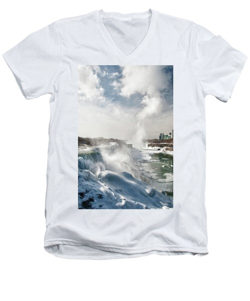 Men's V-Neck T-Shirt featuring the photograph Niagara Falls 4601 by Guy Whiteley