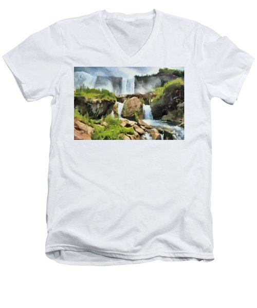 Niagara Falls Cave Of The Winds Men's V-Neck T-Shirt
