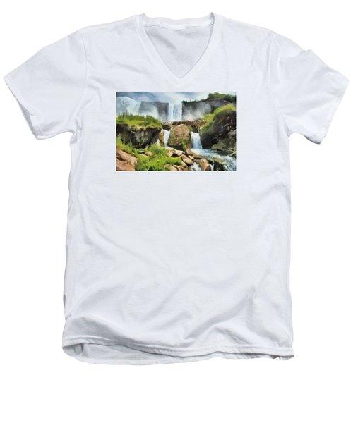 Niagara Falls Cave Of The Winds Men's V-Neck T-Shirt