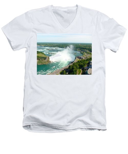 Men's V-Neck T-Shirt featuring the photograph Niagara Falls Ontario by Charles Kraus