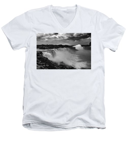 Men's V-Neck T-Shirt featuring the photograph Niagra Falls by Jason Moynihan