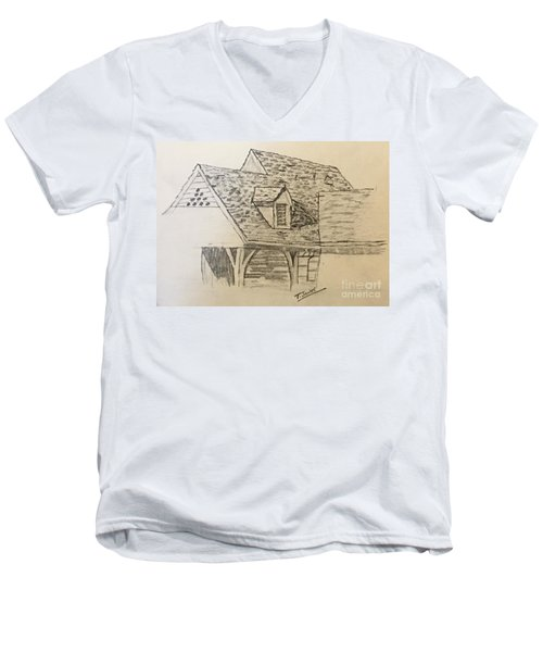 Nice Lines Men's V-Neck T-Shirt