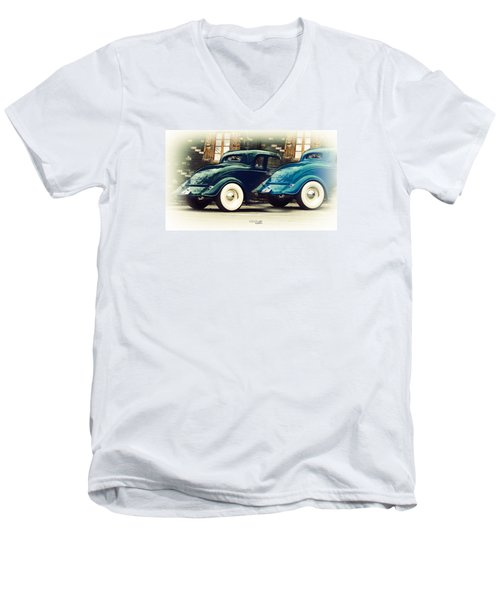 Men's V-Neck T-Shirt featuring the photograph Nice Wheels by Chris Armytage
