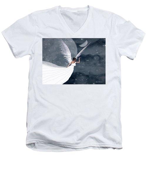Night Angel Men's V-Neck T-Shirt by Rosalie Scanlon