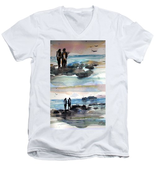 Night Dive Men's V-Neck T-Shirt