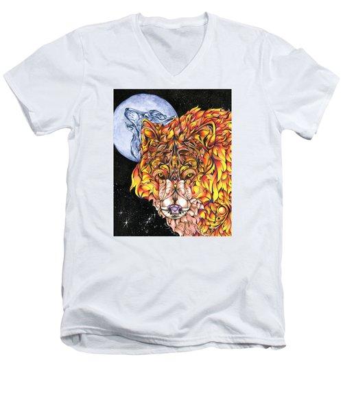 Night Fire Men's V-Neck T-Shirt