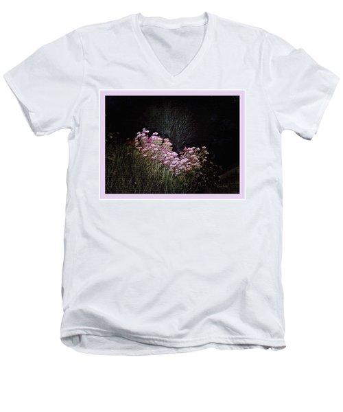 Night Flowers Men's V-Neck T-Shirt by YoMamaBird Rhonda