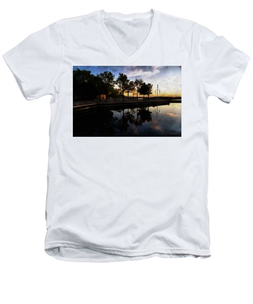 Night Harbour Men's V-Neck T-Shirt