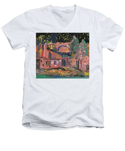 Night Landscape Men's V-Neck T-Shirt