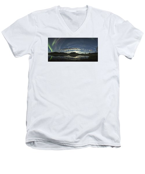 Night Sky Panorama Men's V-Neck T-Shirt