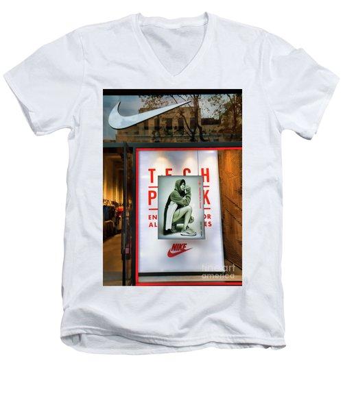 Nike Color Retail Store Barcelona Retail  Men's V-Neck T-Shirt
