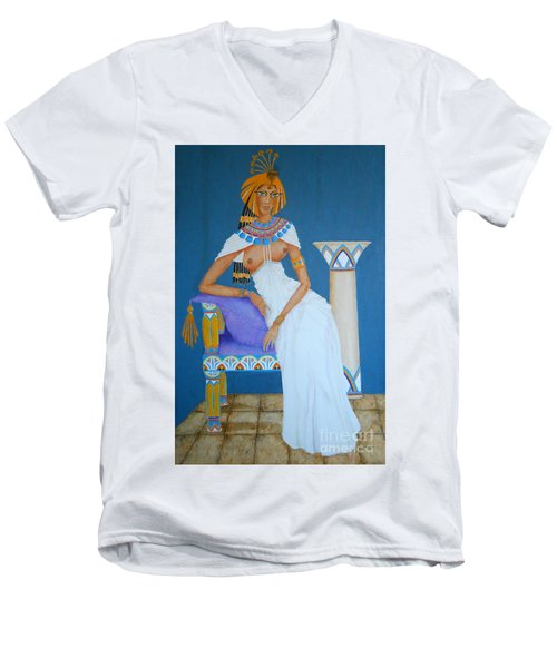 Nile Nymph -- Cleopatra, #1 In Famous Flirts Series Men's V-Neck T-Shirt