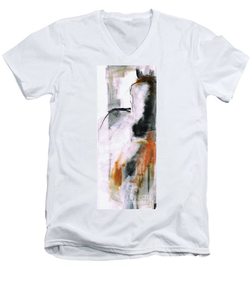 Men's V-Neck T-Shirt featuring the painting Nm Sketch Two by Frances Marino