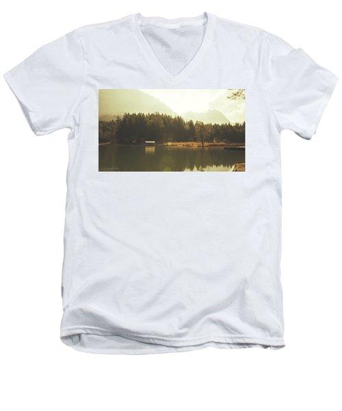 No Ceiling Men's V-Neck T-Shirt by Cesare Bargiggia
