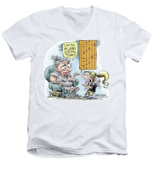 No Child Left Behind Testing Men's V-Neck T-Shirt