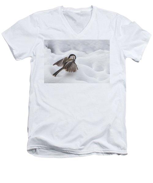 Chickadee - Wings At Work Men's V-Neck T-Shirt