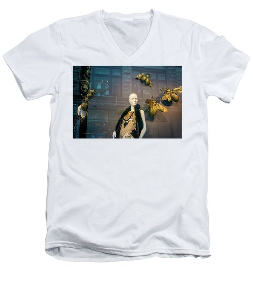 Men's V-Neck T-Shirt featuring the photograph No Nothing Is Bugging Me by Alex Lapidus