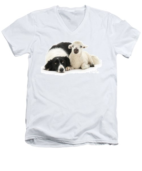 No Sheep Jokes, Please Men's V-Neck T-Shirt