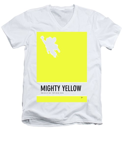 No02 My Minimal Color Code Poster Mighty Mouse Men's V-Neck T-Shirt