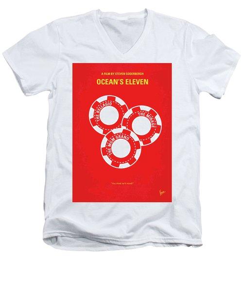 No056 My Oceans 11 Minimal Movie Poster Men's V-Neck T-Shirt