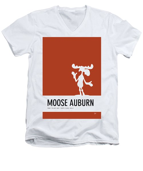 No19 My Minimal Color Code Poster Bullwinkle Men's V-Neck T-Shirt