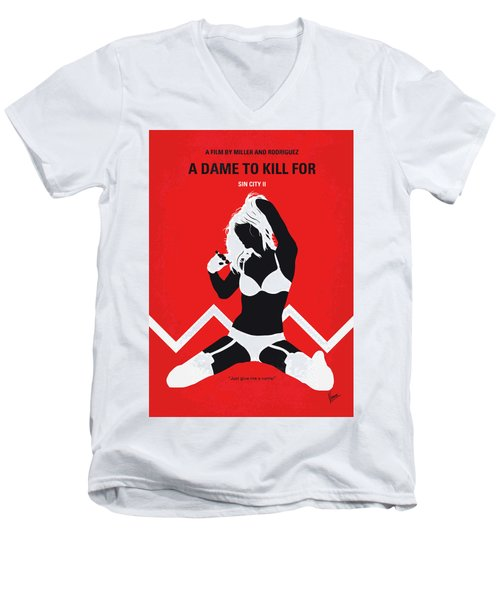 No304-2 My Sin City A Dame To Kill For Minimal Movie Poster Men's V-Neck T-Shirt