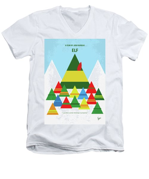 No699 My Elf Minimal Movie Poster Men's V-Neck T-Shirt