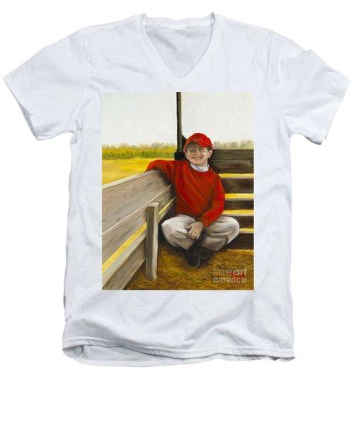 Noah On The Hayride Men's V-Neck T-Shirt