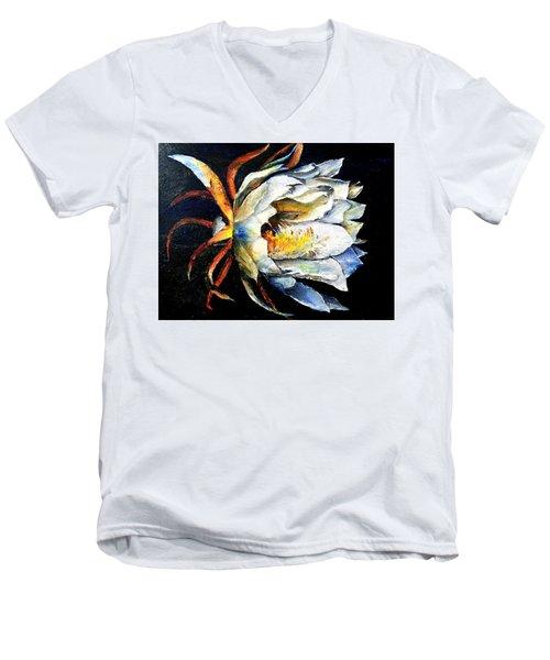 Nocturnal Desert Blossom Men's V-Neck T-Shirt