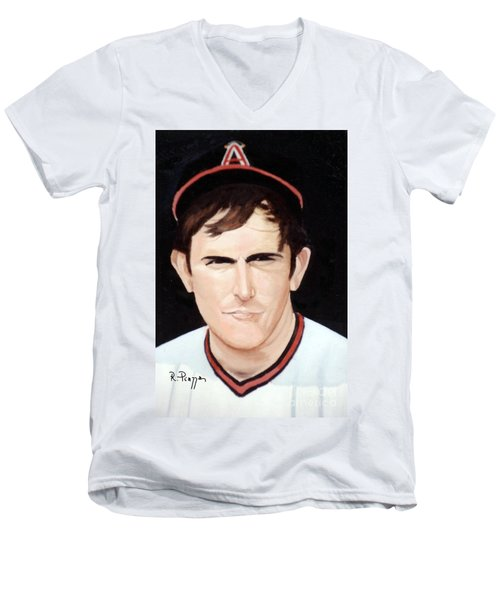 Nolan Ryan With The Angels Men's V-Neck T-Shirt