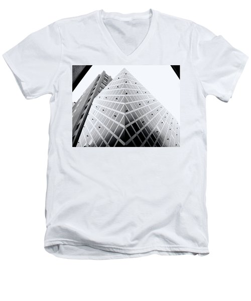Men's V-Neck T-Shirt featuring the photograph Non-pyramidal by Wayne Sherriff