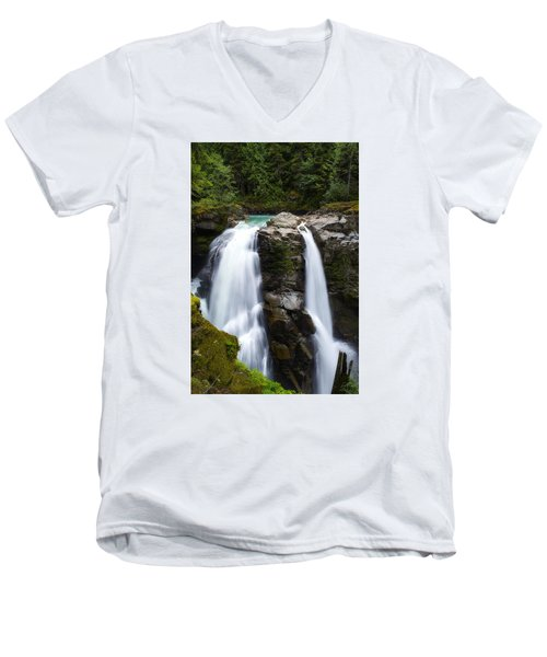 Nooksack Falls Men's V-Neck T-Shirt