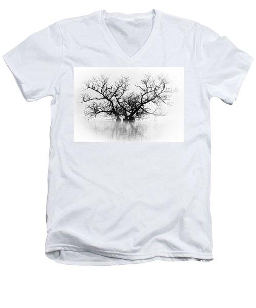 Norris Lake April 2015 5 Men's V-Neck T-Shirt by Douglas Stucky