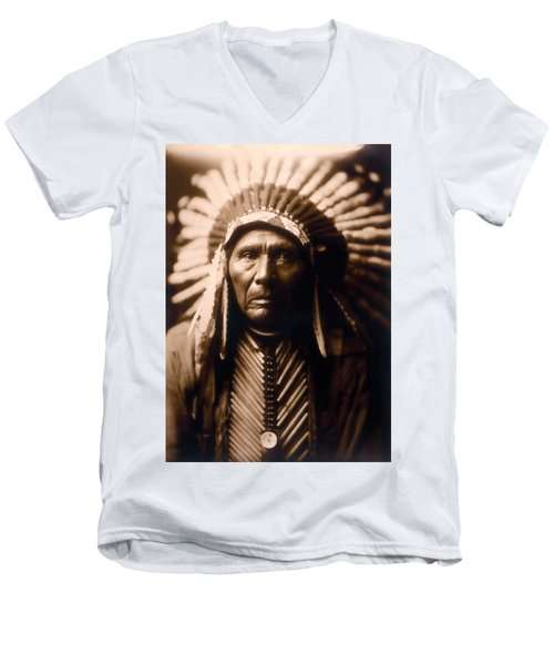 North American Indian Series 2 Men's V-Neck T-Shirt