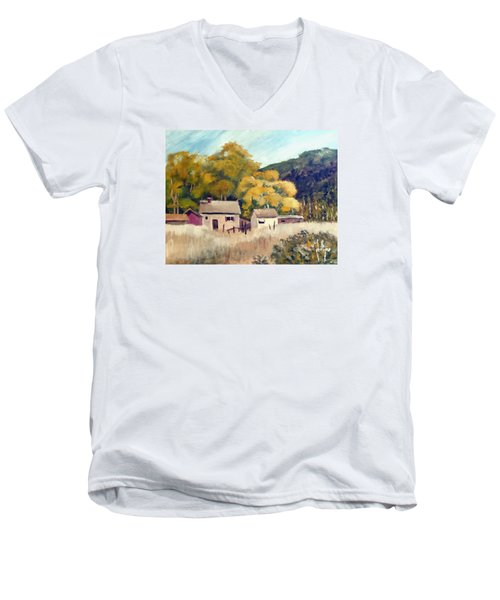 North Carolina Foothills Men's V-Neck T-Shirt by Jim Phillips