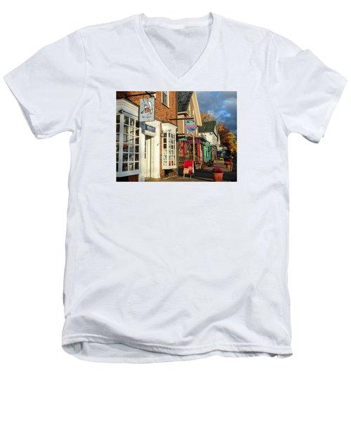 North Conway Village 2 Men's V-Neck T-Shirt by Nancy De Flon