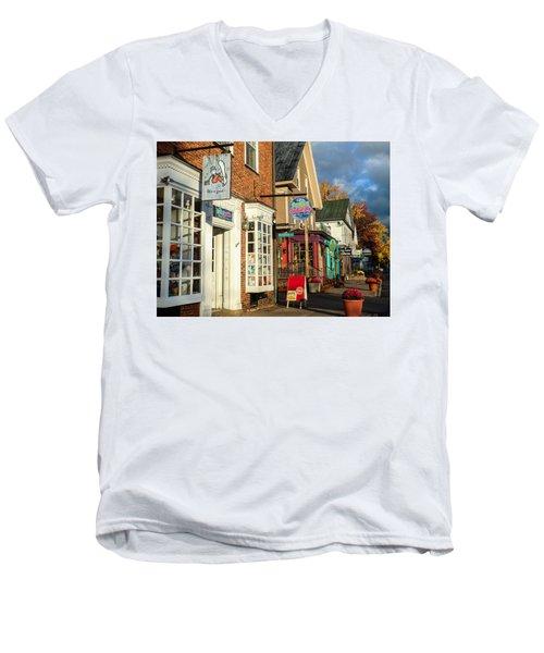 North Conway Village 2 Men's V-Neck T-Shirt