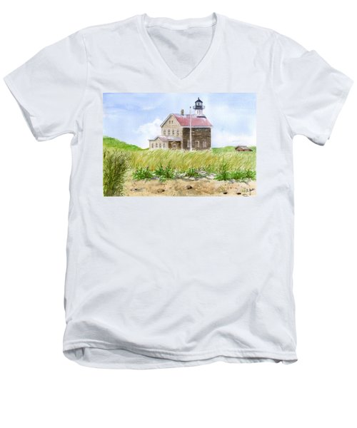 North Light - Block Island Men's V-Neck T-Shirt
