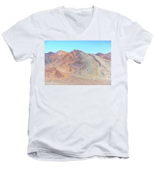 Men's V-Neck T-Shirt featuring the photograph North Of Avawatz Mountain by Jim Thompson
