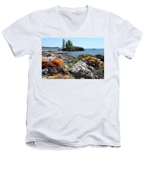 North Shore Beauty Men's V-Neck T-Shirt by Sandra Updyke