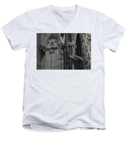 North Side Notre Dame Cathedral Men's V-Neck T-Shirt