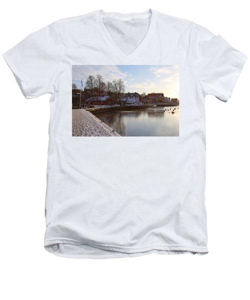 Norwegian Fjords. Men's V-Neck T-Shirt