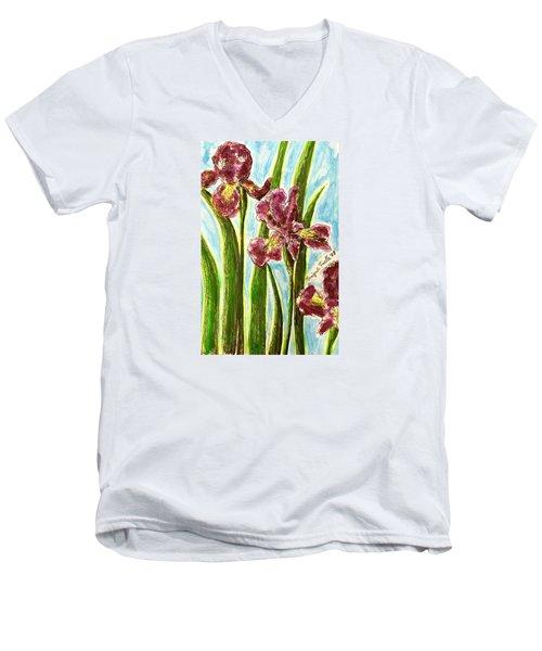 Nostalgic Irises Men's V-Neck T-Shirt