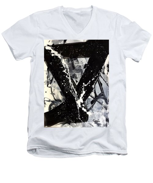 Not Just Black And White Men's V-Neck T-Shirt