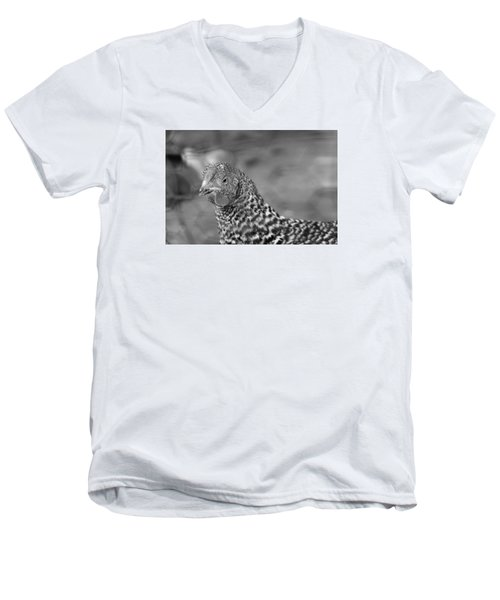 Men's V-Neck T-Shirt featuring the photograph Not Your Chicken Dinner by Lora Lee Chapman