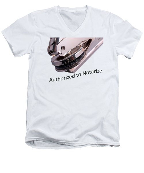 Notary Public Slogan Men's V-Neck T-Shirt by Phil Cardamone