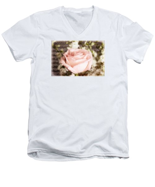 Men's V-Neck T-Shirt featuring the photograph Notes Of Love by Joan Bertucci
