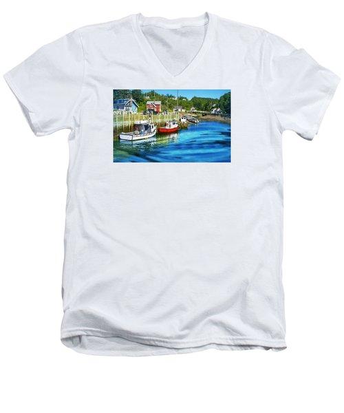 Nova Scotia Men's V-Neck T-Shirt by Robin Regan